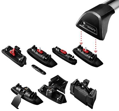 Уникальная технология Smartfoot, позволяет устанавливать багажник Whispbar на любой тип крыши автомобиля